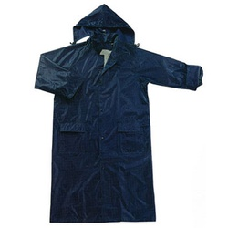 Navy Blue Rain Coat with Inner Lining - One Piece